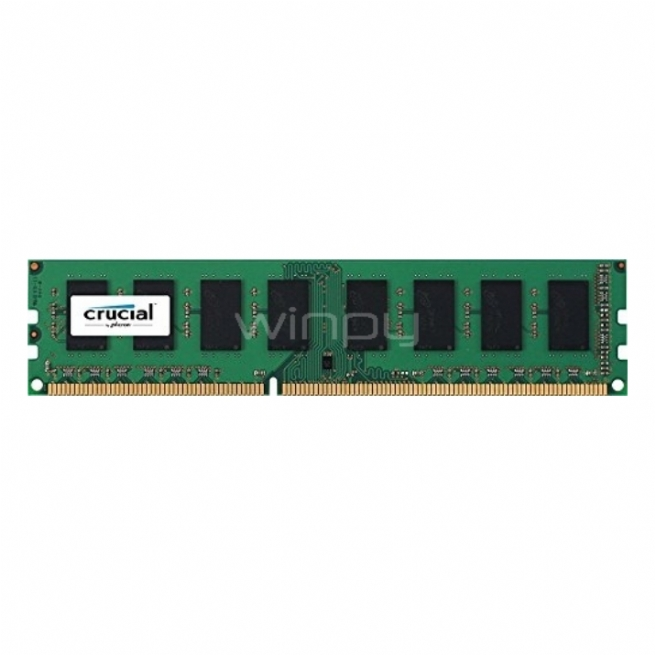 Memoria Crucial RAM de 8 GB DDR3, 1600 MHz, Unbuffered CT102464BD160B