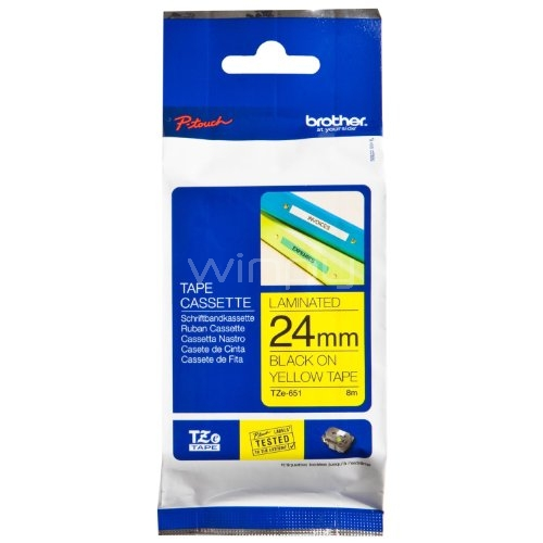 Brother TZeS651 - Cinta laminada adhesiva (ancho: 24 mm, longitud: 8 m)