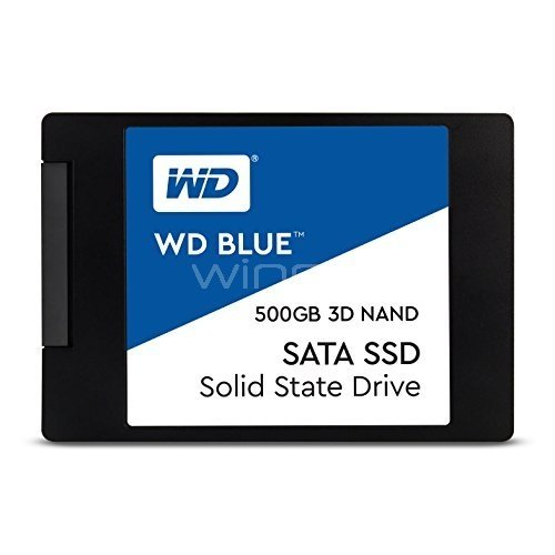 Disco estado sólido Western Digital Blue de 500GB (SSD, SATA)