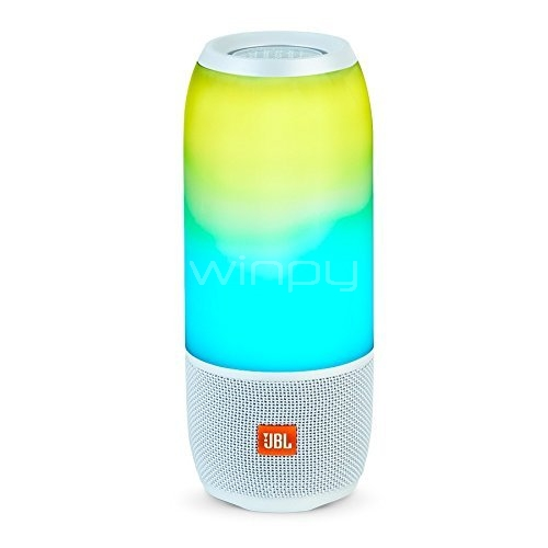 Parlante Bluetooth portátil JBL Pulse 3 (Blanco)