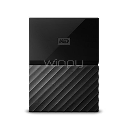Disco duro portátil Western Digital My Passport de 2TB (USB 3.0, Negro)