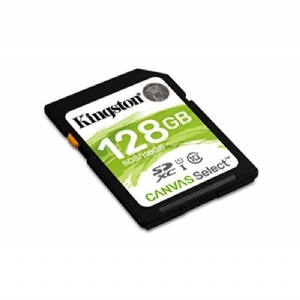 Tarjeta de Memoria SD Kingston Canvas Select de 128GB (UHS-I, Clase 10, hasta 80 MB/s)