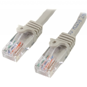 Cable de Red de 0,5m Gris Cat5e Ethernet RJ45 sin Enganches - StarTech