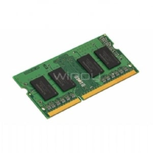 Memoria RAM para portátil Kingston  de 4 GB (1333 MHz SODIMM, DDR3, 1,5 V, CL9, 204 pines)