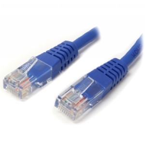 Cable de Red 0.9m Categoría Cat5e UTP RJ45 Ethernet - Patch Moldeado - Azul - StarTech