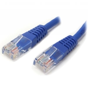 Cable de Red 2.1m Categoría Cat5e UTP RJ45 Fast Ethernet - Patch Moldeado - Azul - StarTech