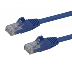 Cable de Red Ethernet Snagless Sin Enganches Cat 6 Cat6 Gigabit 0,5m - Azul - StarTech