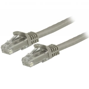 Cable de 0,5m Gris de Red Gigabit Cat6 Ethernet RJ45 sin Enganche - Snagless - StarTech