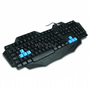 Teclado Gamer Multimedia Xtech - USB, Black-Blue