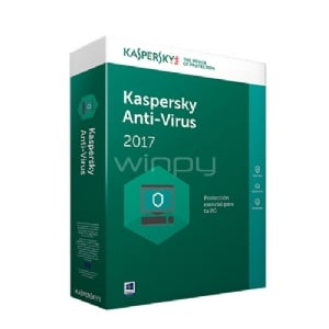Kaspersky Anti-Virus 2017 - 1PC - KL1171DBAFS