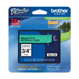 Cinta laminada Brother TZe741 -  (ancho: 18 mm, longitud: 8 m)