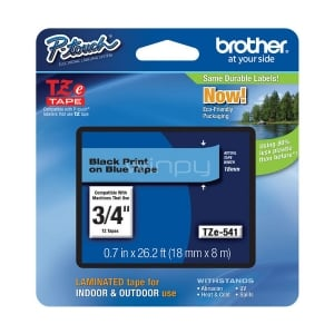 Cinta laminada Brother TZe541 - (ancho: 18 mm, longitud: 8 m)