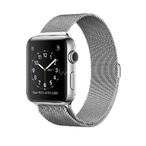 Apple Watch S2, 38mm Steel Case with Silver Milanese Loop