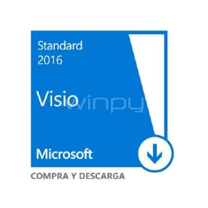 Microsoft Visio Standard 2016 (Windows, 1 usuario, Descargable)