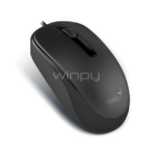 Mouse Genius DX-120 (USB, 1000DPI, Negro)