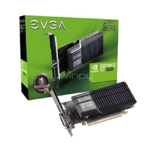Tarjeta de Video EVGA GeForce GT 1030 SC (2GB GDDR5, Low Profile, Disipador)