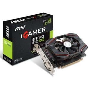 Tarjeta de Video MSI Nvidia GeForce GTX 1060 IGAMER 6G OC - 6GB GDDR5