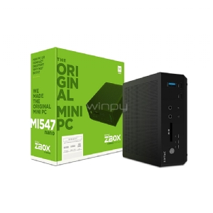 Mini PC Zotac MI547NANO-U (i5-7200U, Sin RAM, Sin disco, FreeDos)