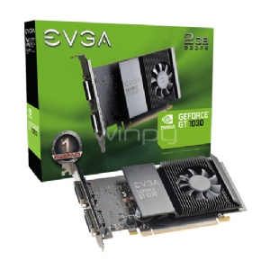 Tarjeta de vídeo EVGA Nvidia GeForce GT 1030 (2GB GDDR5, Low Profile, DVI-D x2)