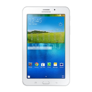 Tablet Samsung Galaxy Tab E de 7 pulgadas (Quad-Core, 1GB RAM, 3G, WHITE)