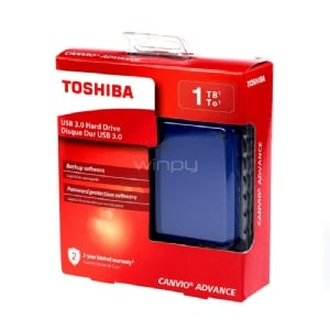 Disco portátil Toshiba Canvio Advance V9 de 1TB (USB 3.0 - Azul)