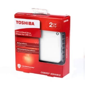 Disco portátil Toshiba Canvio Advance de 2TB (USB 3.0 - White)