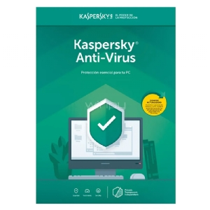 Licencia Kaspersky Anti-Virus protege contra virus, ransomware y más (1 PC, 1 Año, Blister)