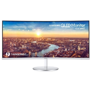 "Monitor Curvo Samsung CJ79 UltraWide de 34"" (QLED, 21:9, 3440x1440, 4ms, 100Hz, Thunderbolt 3+DisplayPort+HDMI)"