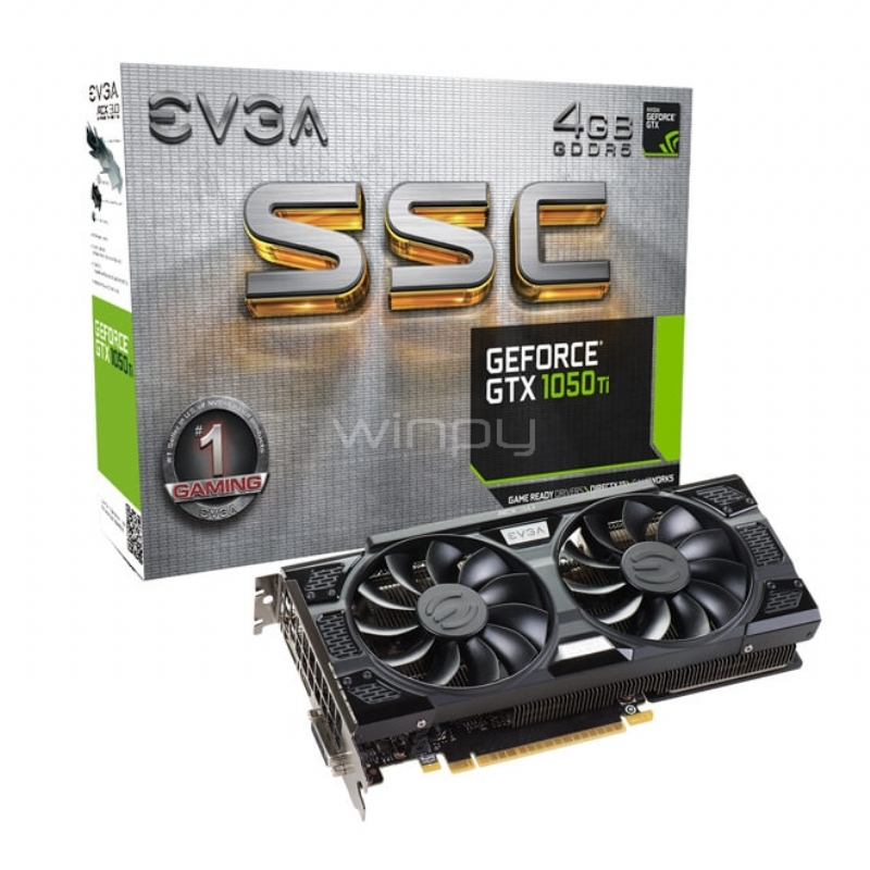 Tarjeta de Vídeo EVGA GeForce GTX 1050 Ti SSC Gaming - 4GB GDDR5
