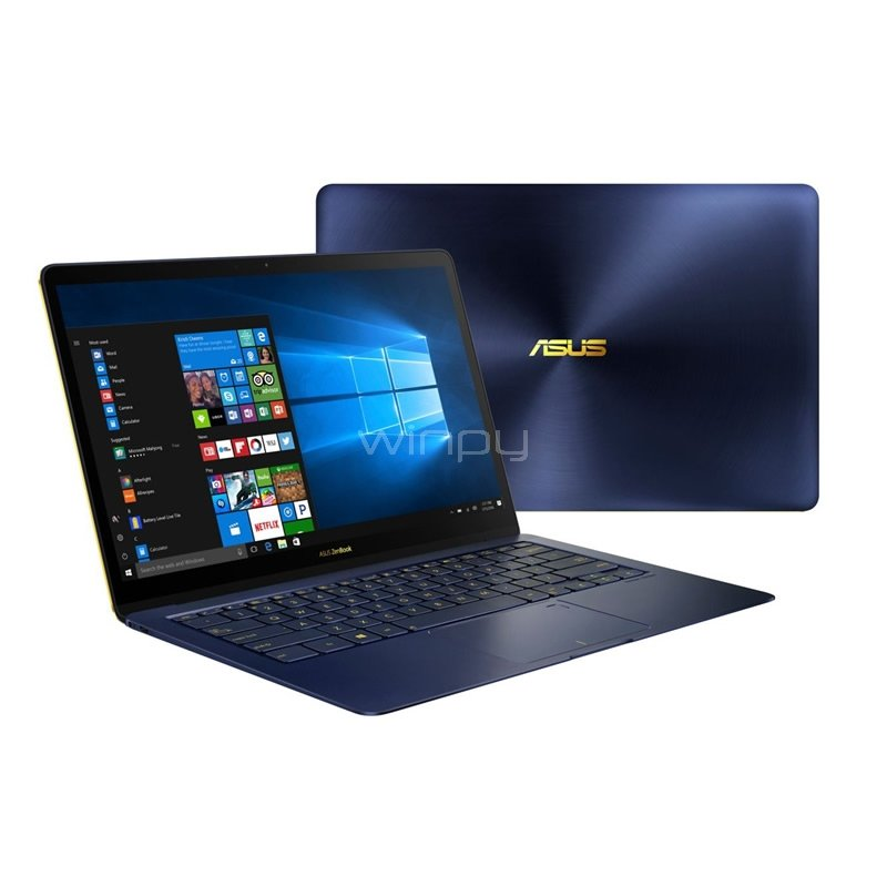 Ultrabook Asus ZenBook 3 Deluxe UX490UA-BE049T (i7-7500U, 16GB DDR4, 1000GB SSD, Win10, LED 14 FullHD)