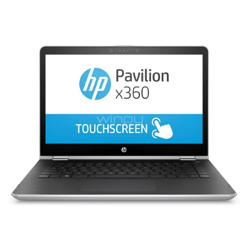 Notebook HP Pavilion x360 - 14-ba008la (i7-7500U, GeForce 940MX 4GB, 8GB DDR4, 128SSD+1TB, Pantalla Touch 14, Win10)
