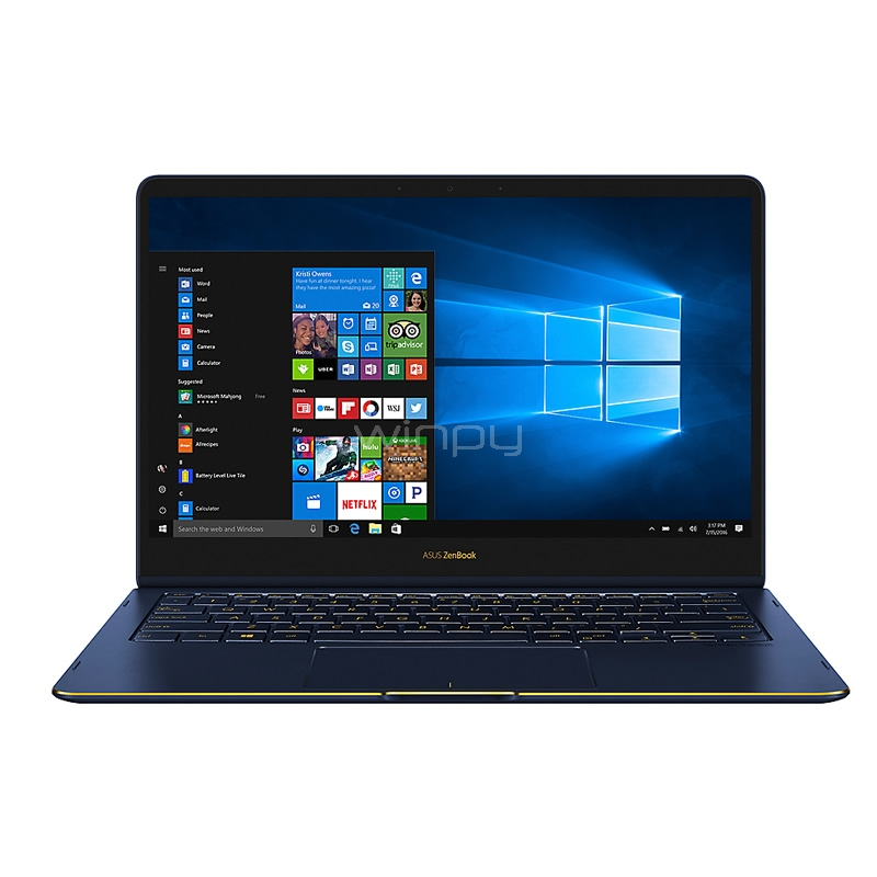 Notebook Convertible Asus ZenBook Flip S - UX370UA-C4296T (i7-8550U, 4GB DDR4, 512GB SSD, Pantalla Touch 13,3, Win10)