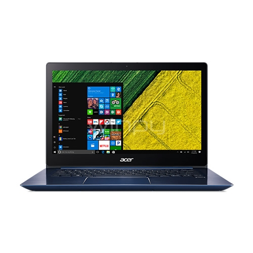 Notebook Acer Swift 3 - SF314-52G-88T7 (i7-8550U, GeForce MX150, 8GB RAM, 256GB SSD, Pantalla FHD 14, Win10, Azul)