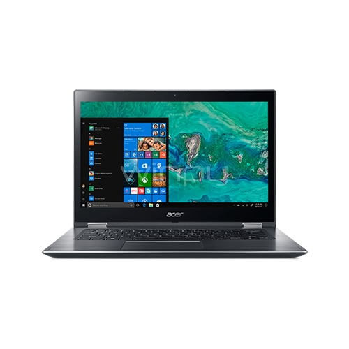 Notebook Acer Spin 3 - SP314-51-54DL (i5-8520u, 4GB RAM, 1TB HDD, Pantalla Touch 14, Win10, Steel Gray)