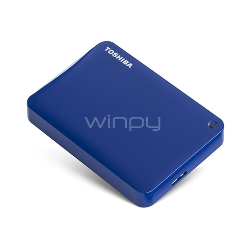 Disco duro portatil Toshiba Canvio Connect II de 3TB - Blue
