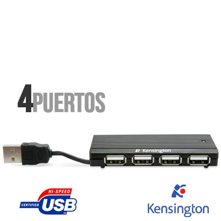 Kensington Pocket Hub Mini 2,0 4 puertos - K33933