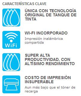 Impresora, Copiadora, Escáner, Fax y Wi-Fi, Hasta 5760 x 1440 dpi